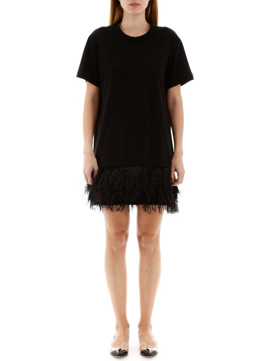 N.21 Mini Dress With Feathers