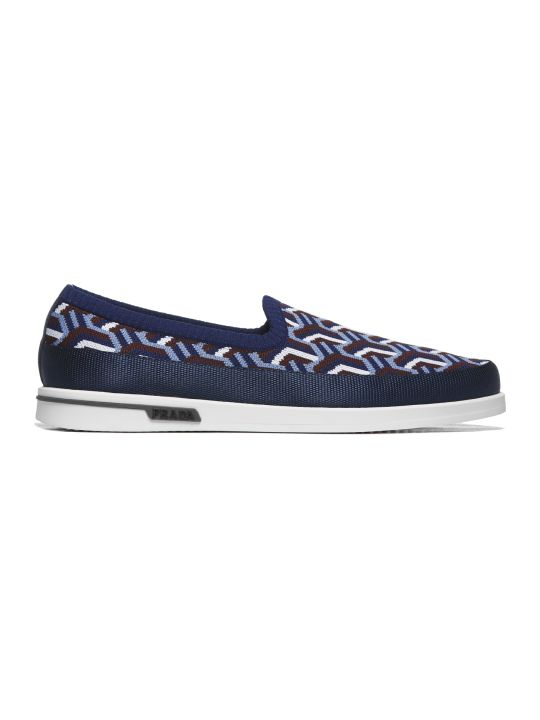 Prada Linea Rossa Patterned Slip-on Sneakers