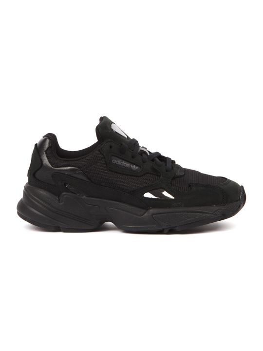 Adidas Originals Falcon Black Nylon Sneakers