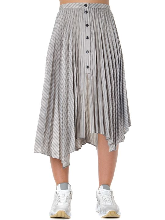 Acne Studios Stiped Motif Asymmetrical Pleated Skirt