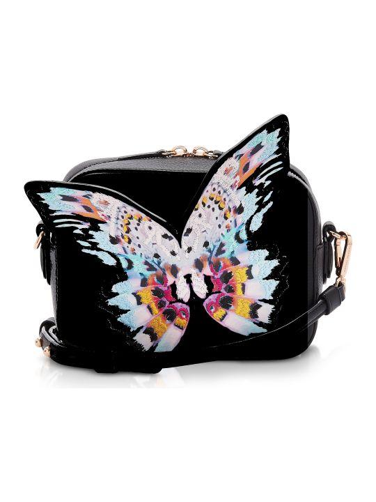 Sophia Webster Black & Multi Flossy Butterfly Camera Bag