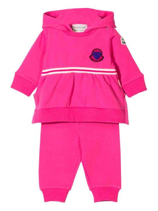Moncler Newborn Fuchsia Jumpsuit
