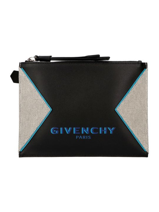 Givenchy Logo Detail Flat Leather Pouch