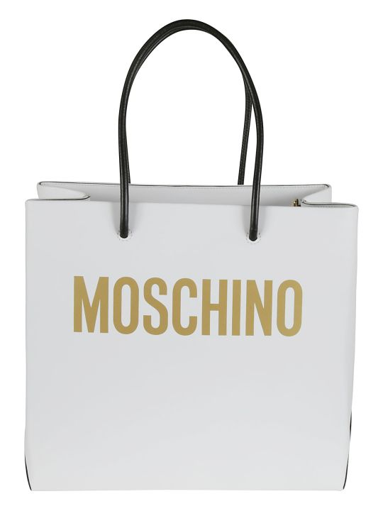 Moschino Logo Printed Shopper Bag