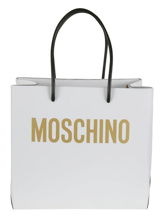 Moschino Logo Printed Shopper Bag
