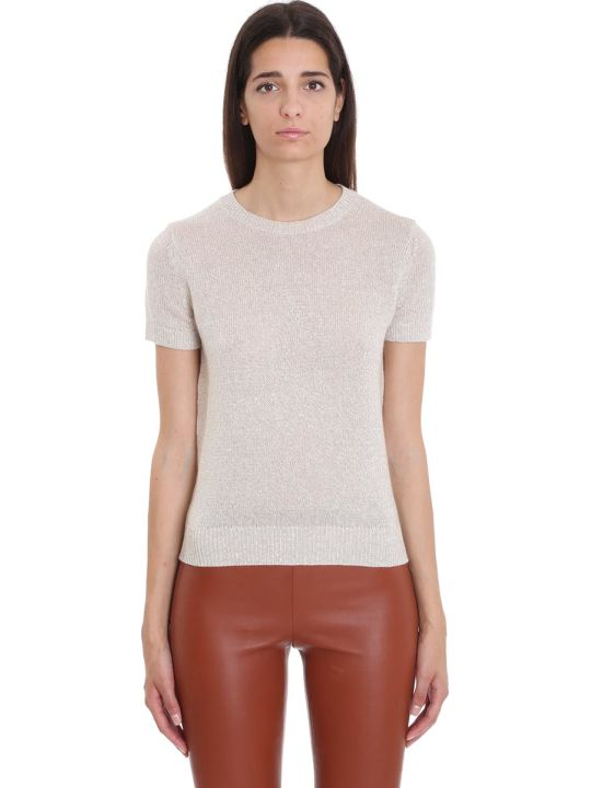Theory Knitwear In Beige Cachemire And Silk