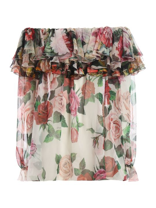 Dolce & Gabbana Dolce Gabbana Ruffled Printed Blouse