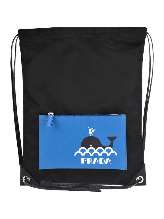 Prada String Backpack Seahorse