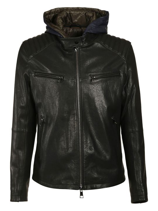 DROMe Hooded Leather Jacket