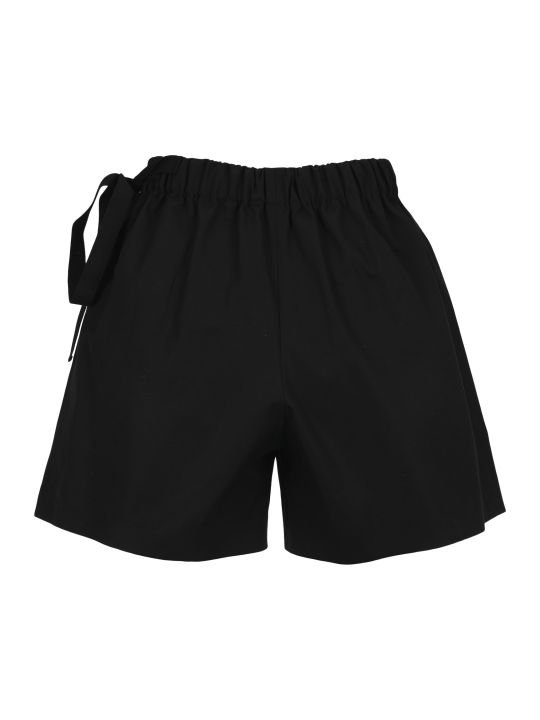 Prada Button Detail Cotton Shorts