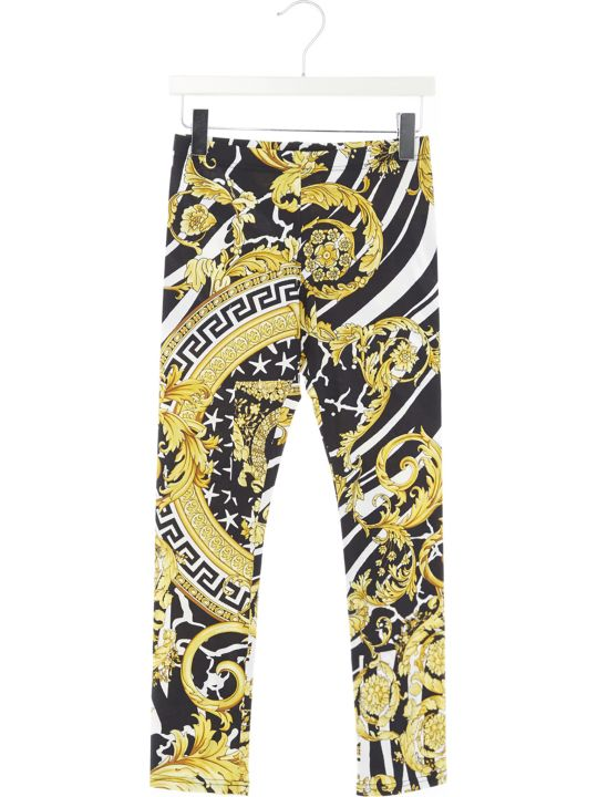 Young Versace 'barocco Icon' Leggings