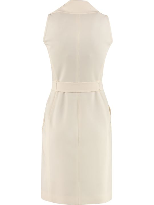 Max Mara Stretching Wool Veranda Double-breasted Dress