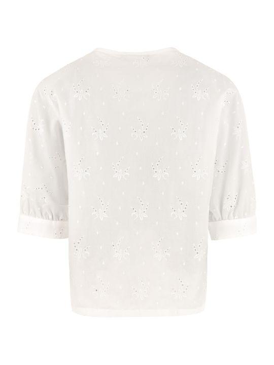 Max Mara Studio Carmela Broderie-anglaise Cotton Shirt