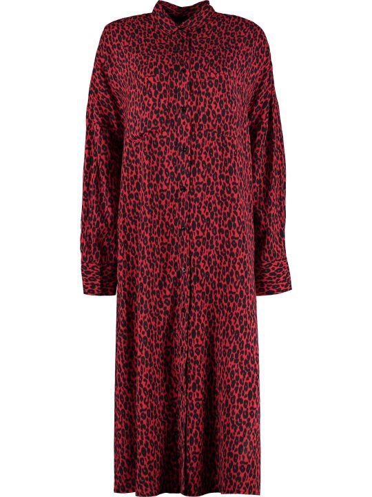 IRO Pirae Leopard Print Shirtdress