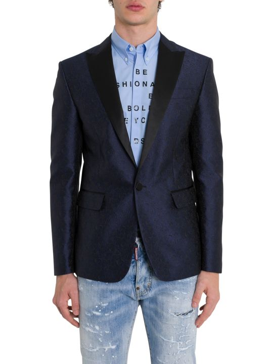 Dsquared2 Beverley Abstract Jacquard-print Blazer