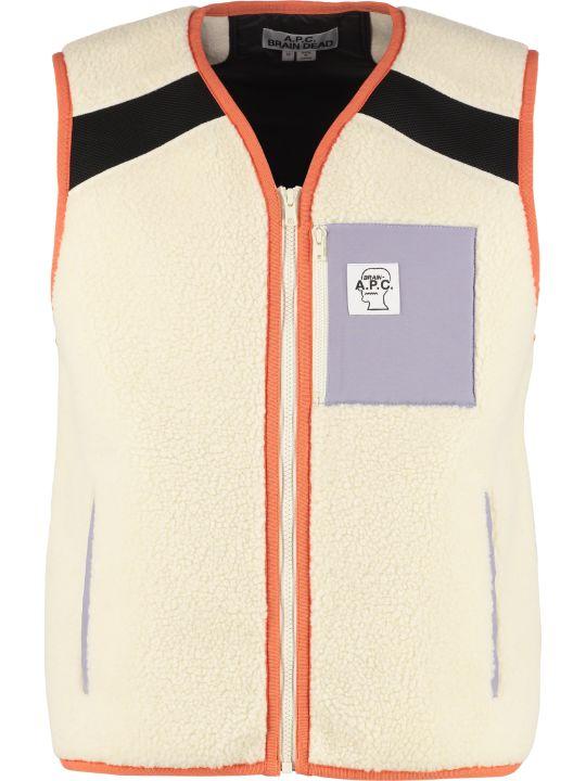 A.P.C. X Brain Dead Short Eco-sheepskin Vest