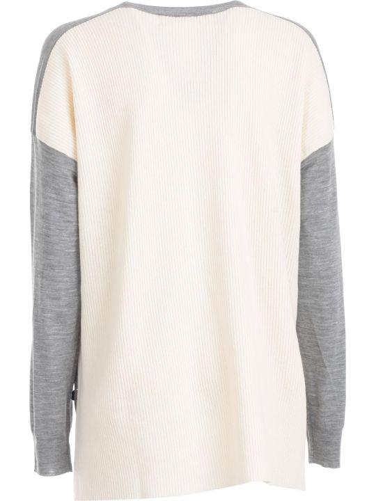 Marni Sweater L/s V Neck Bicolour