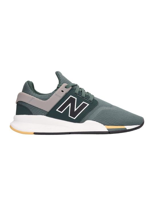New Balance Green Canvas 247 Sneakers