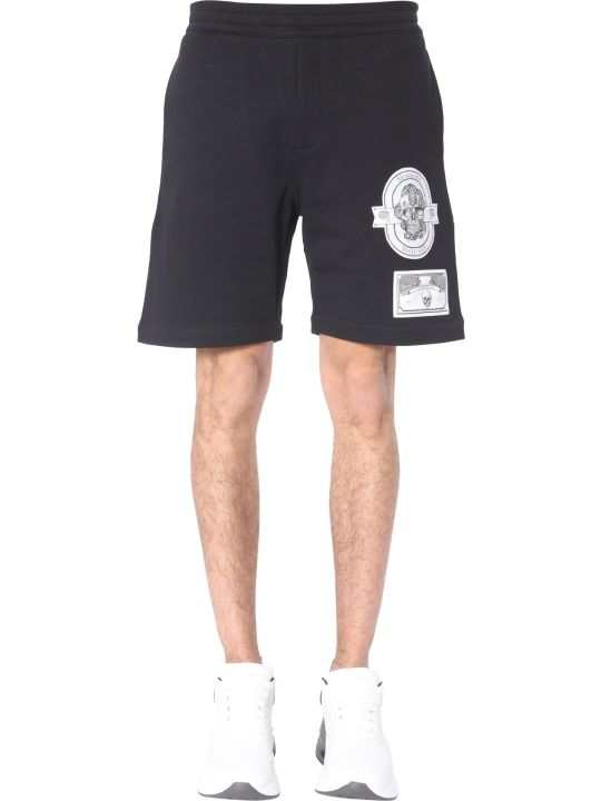 Alexander McQueen Patch Skull Shorts