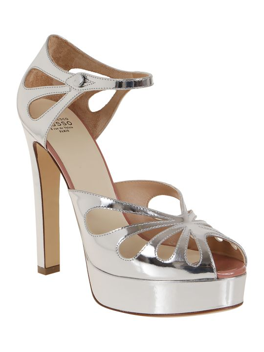 Francesco Russo Mirrored Calf Leather Sandals