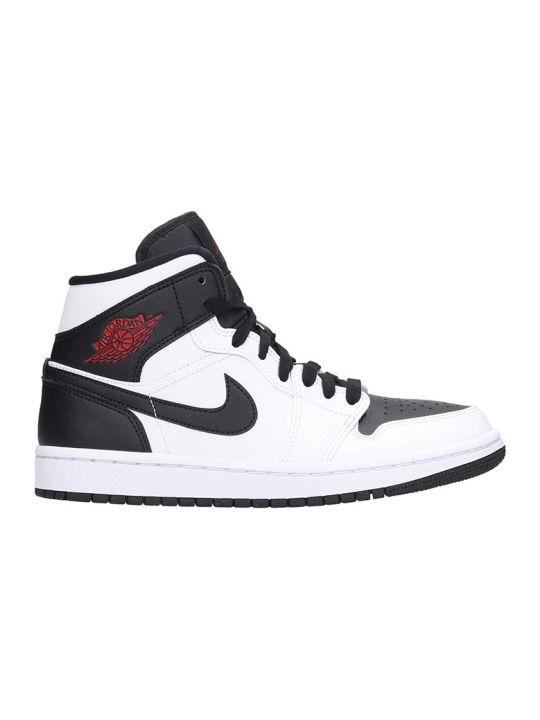 Nike Air Jordan 1 Sneakers In White Leather