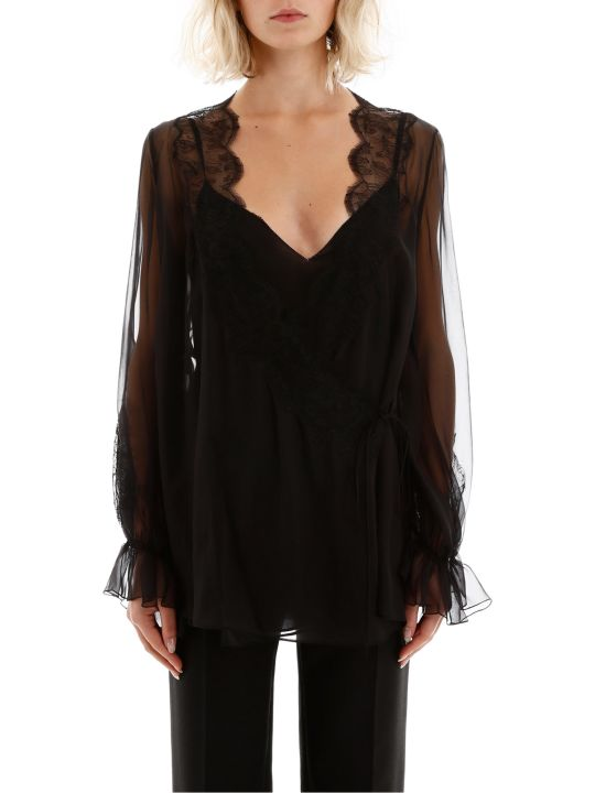 Valentino Blouse With Lace