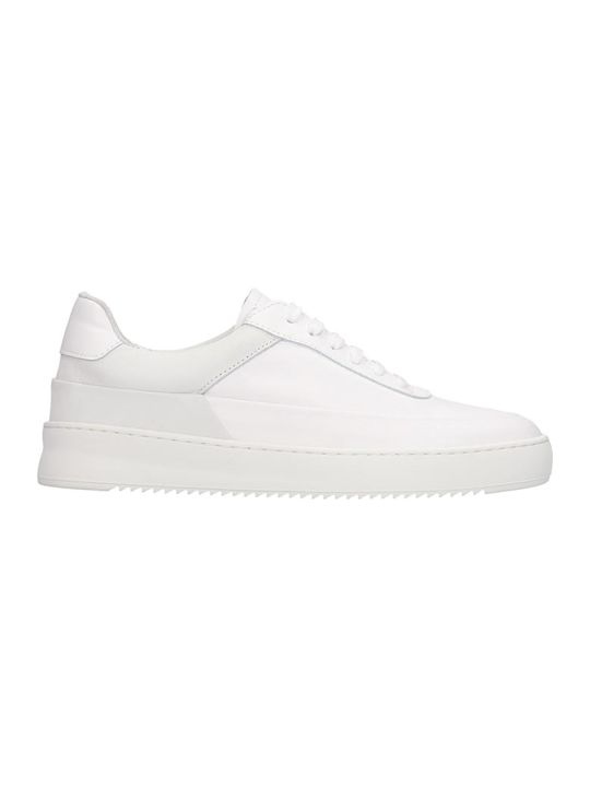 Filling Pieces Mono Ripple Shi Sneakers In White Suede And Leather