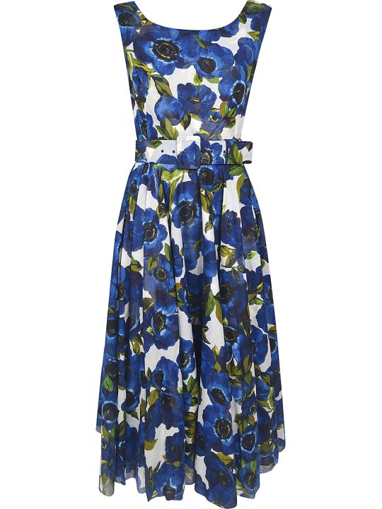 Samantha Sung Aster Floral Print Sleeveless Dress