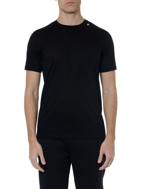 Emporio Armani Black Mixed Cotton T Shirt