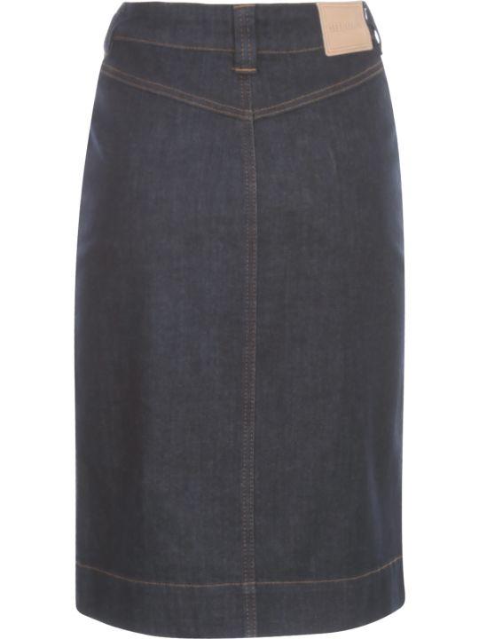 See by Chloé Indigo Denim Skirt