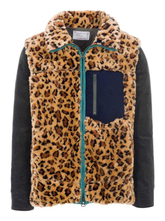 Sacai Faux Fur Leopard Jacket