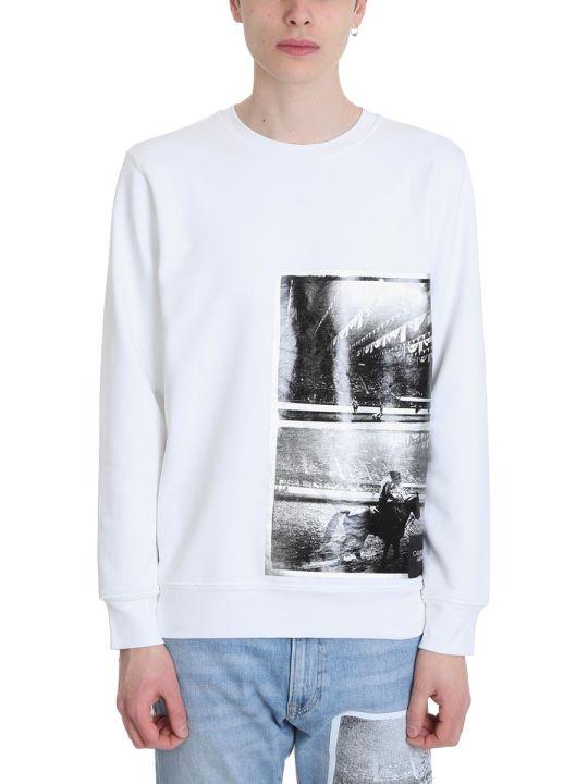 Calvin Klein White Cotton Warhol Sweatshirt