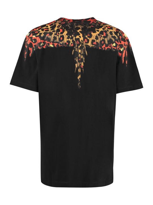 Marcelo Burlon Printed Short Sleeve Cotton T-shirt