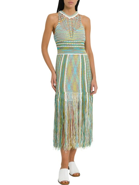 M Missoni Knit Dress With Fring