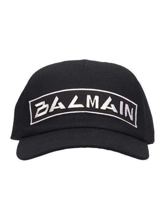 Balmain Hats In Black Cotton