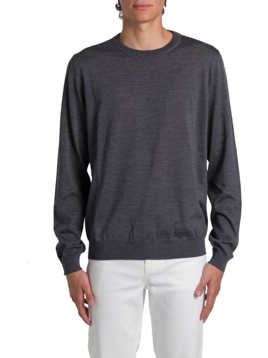 Balenciaga Jacquard Sweater With Allover Logo