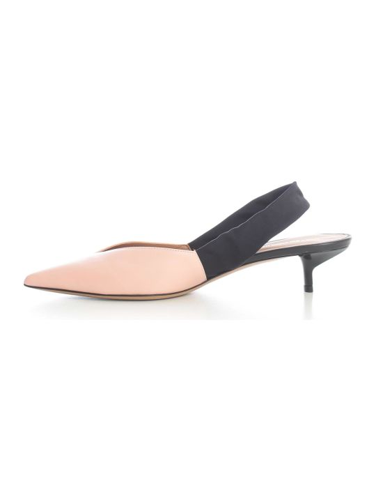 Emporio Armani Pointed Chanel Pumps Bicolour W/belt
