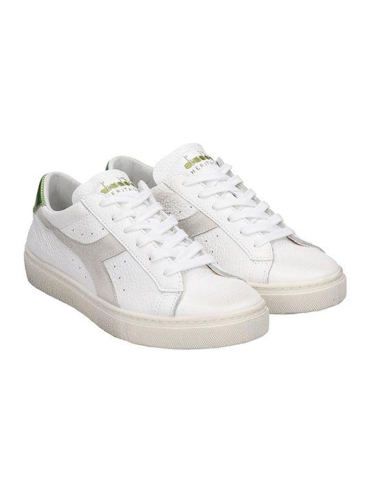 Diadora Montecarlo  Sneakers In White Leather