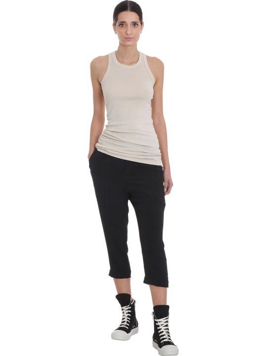 DRKSHDW Rib Tank Topwear In Beige Cotton