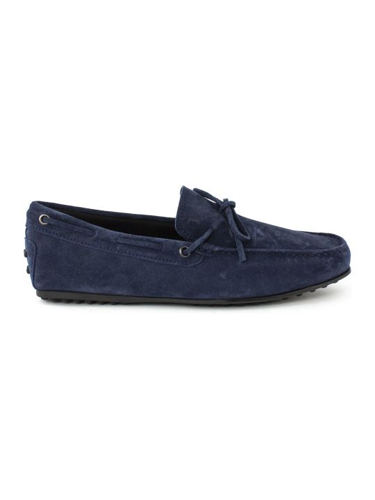 Tod's Gommino Driving In Blu Suede
