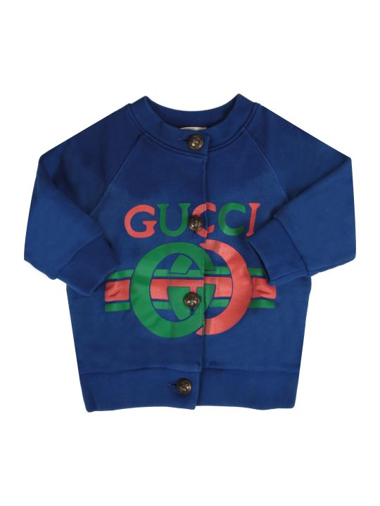 Gucci Royal Blue Baby Girl Sweatshirt With Logo
