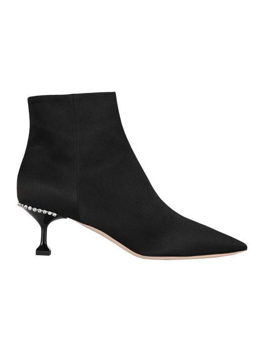 Miu Miu Stretch Satin Bootie