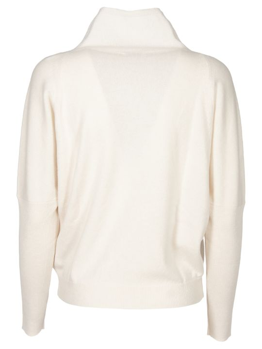 Peserico Cream Pullover With Moss Stich Detail