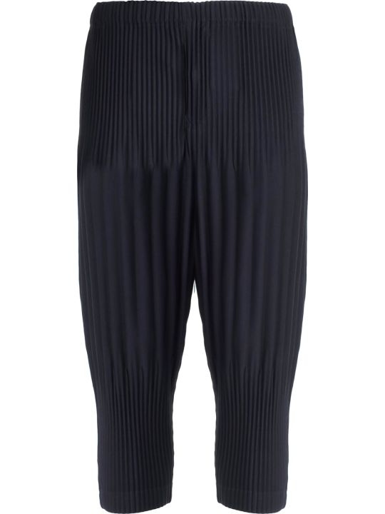 Pleats Please Issey Miyake Pleats Please By Issey Miyake Pleated Cropped Trousers