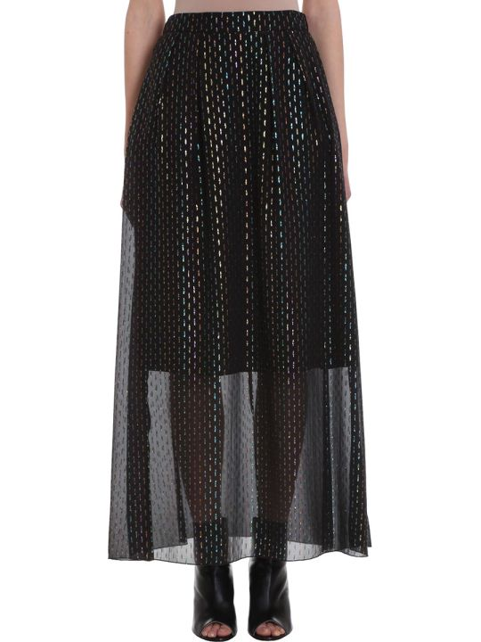 L'Autre Chose Metal Multicolor Lurex Long Skirt