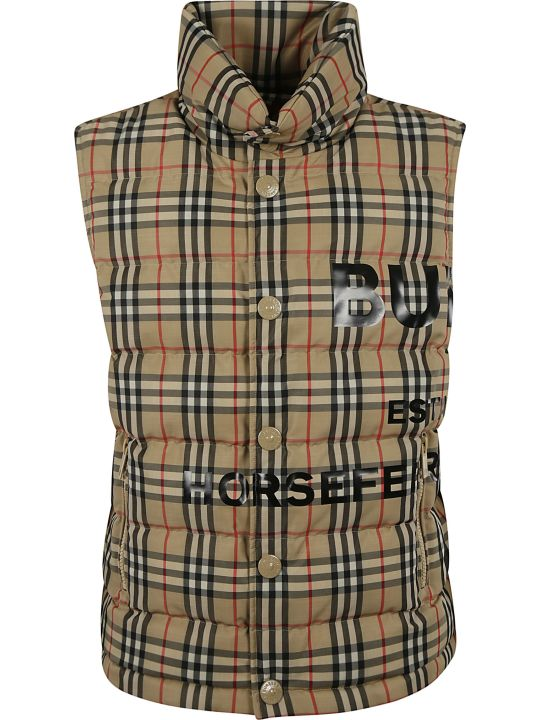 Burberry Checked Buttoned Vest