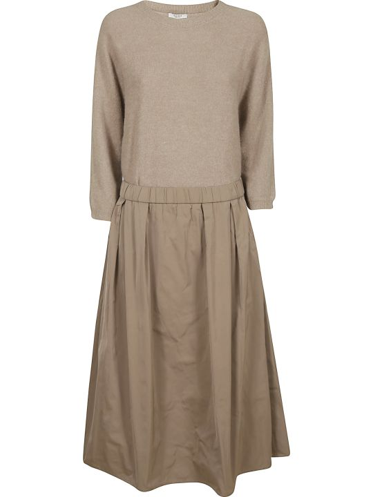 Peserico Manica Sweater Long Skirt Dress