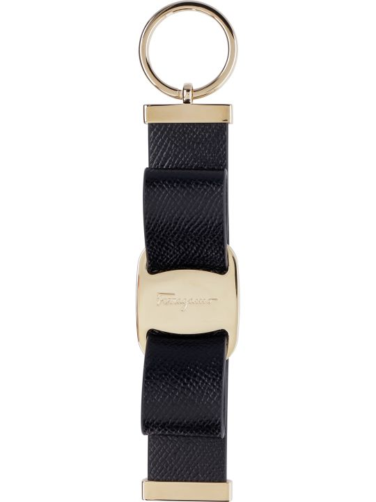 Salvatore Ferragamo Leather Keyring With Logo