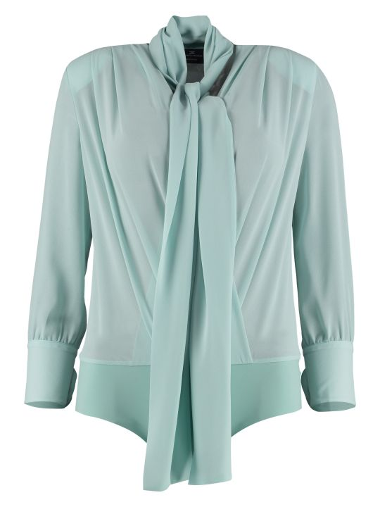 Elisabetta Franchi Celyn B. Crossed V-neck Body-shirt
