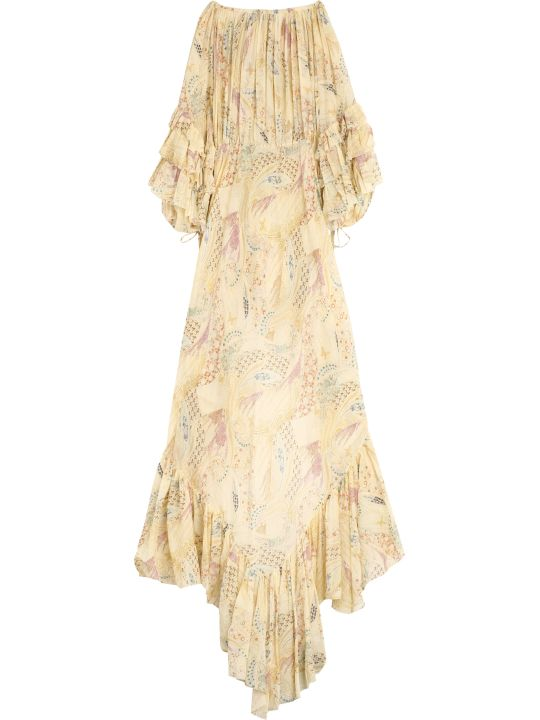 Etro Cotton Printed Long Dress